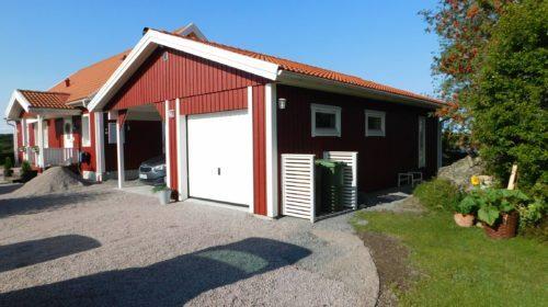 Garage med carport 7,2 x 9,6 m